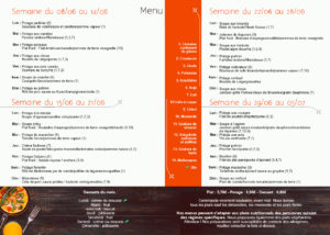 Menu du mois Meal and go !