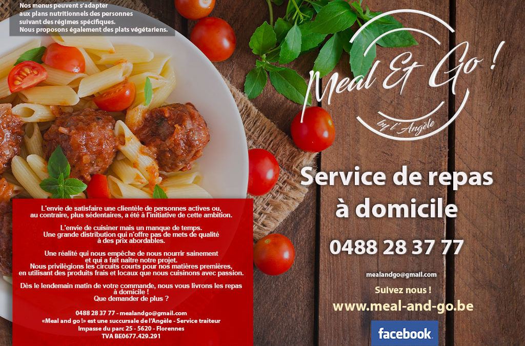 Meal and go menu à domicile Namur