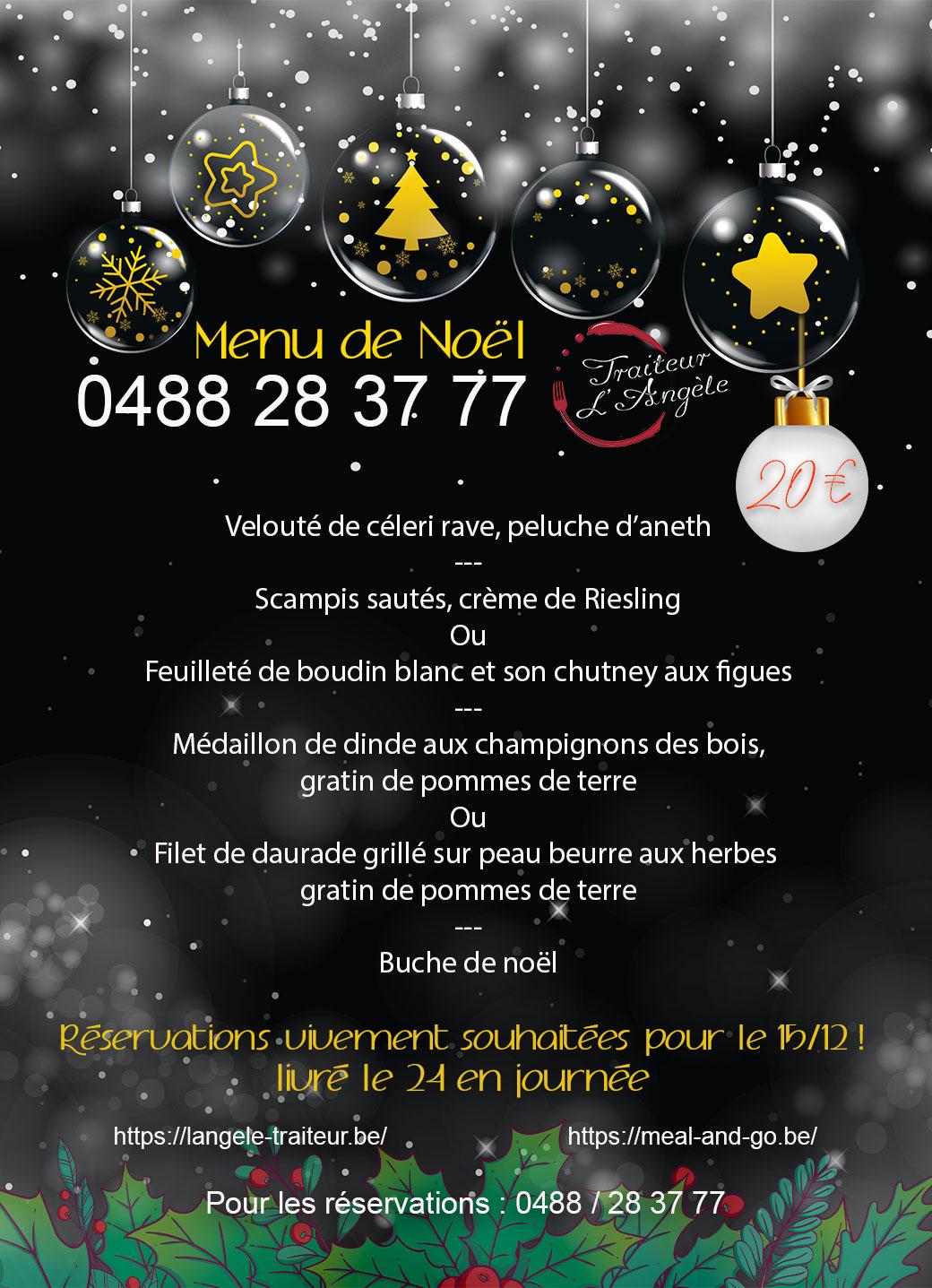Menu de Noël Meal and go à Namur